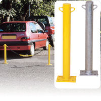 Fixed Barrier Posts with chain eyelets