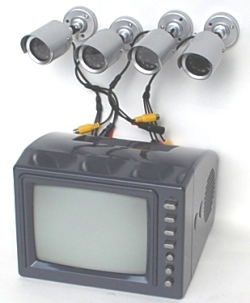 4 Camera CCTV Monitoring and Alarm System