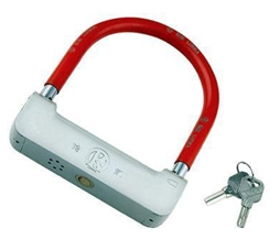 Wide Shackle Alarm Padlock