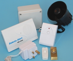 Long Range Entrance Battery Operated Wireless Bell & Siren System