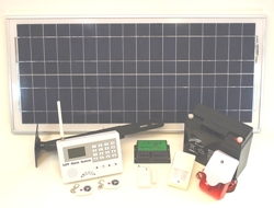 Solar powered GSM Security System