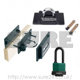 Sterling LCKGA2 Ground-Wall Security Anchor Kit with Padlock