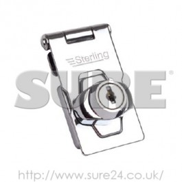 Sterling LCKLGH100 Locking Hasp Chrome Plated