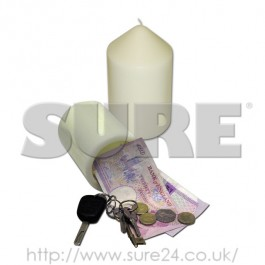 SAFECAND Safe Candle White Wax