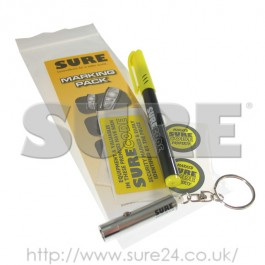 SCH008K Key Chain UV Bullet Lamp & UV Pen Set