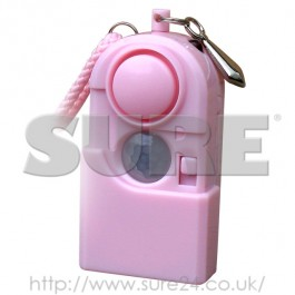 SG3in1 SureGuard Personal Attack Alarm with PIR Motion Sensor and Torch Pink