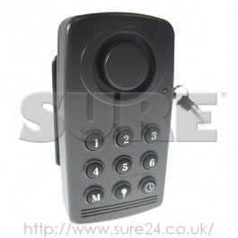 SGKPA Shock/Vibration Key Pad Alarm Black